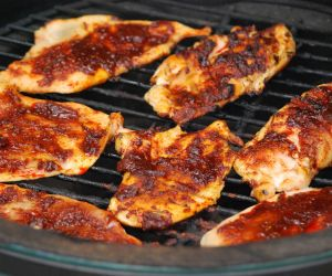 Grilled Breast Of Chicken W/Maple Whiskey Glaze