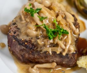 Grilled Fillet With Mushroom Sauce